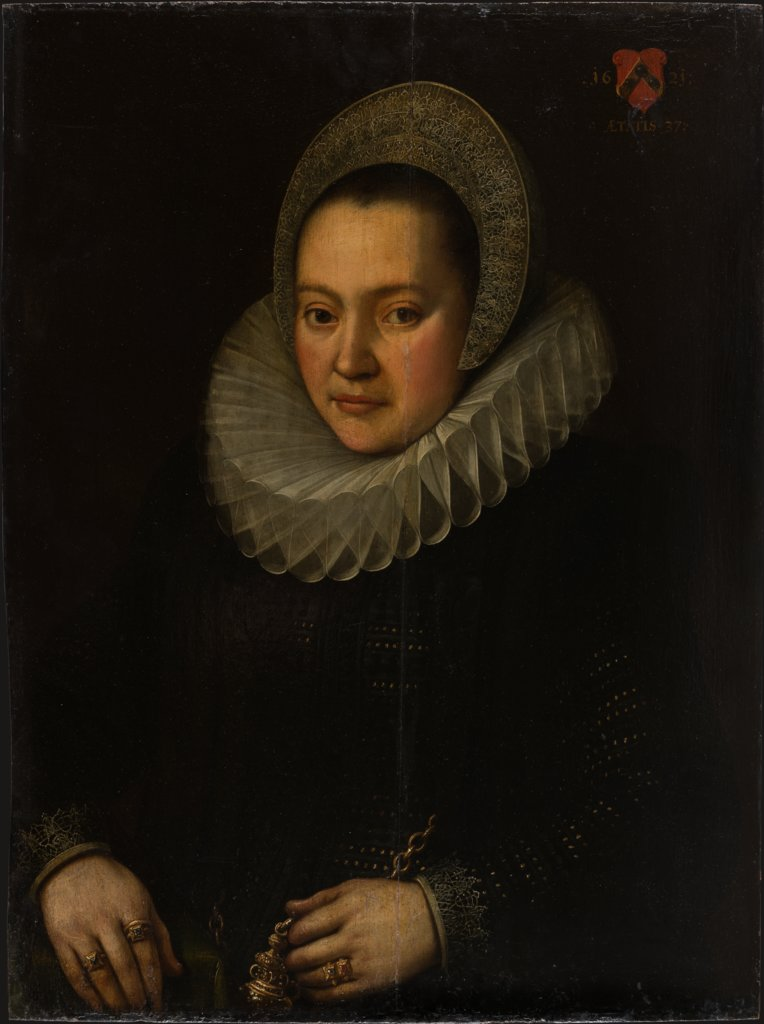 Portrait of a Woman aged 37, German Master of 1621