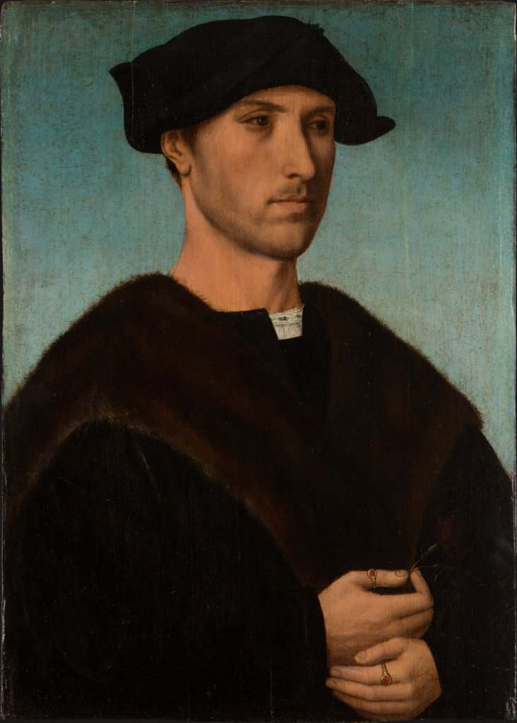 Portrait of a Man with Carnation, Dutch Master around 1515