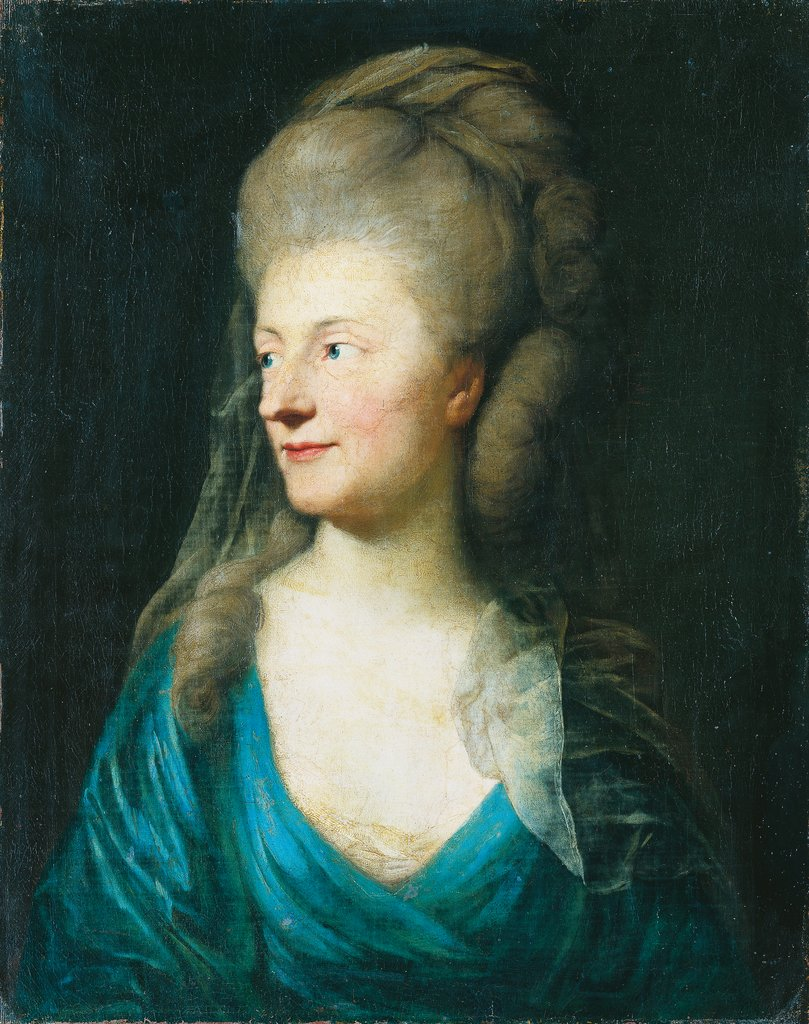 Portrait of Johanna Henriette Louise Countess of Bestucheff-Rumin, née von Carlowitz (1717-1787) (?), Anton Graff