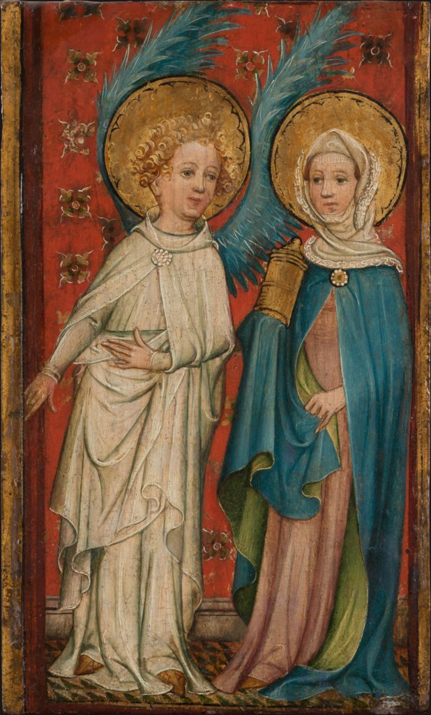 The Angel and Mary Magdalene at the Sepulchre, Older Master of the Aachen Wardrobe Doors