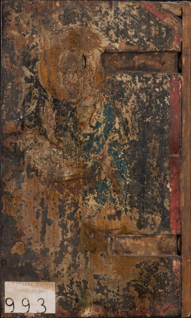 Virgin of the Annunciation (fragment, utterly destroyed), Older Master of the Aachen Wardrobe Doors