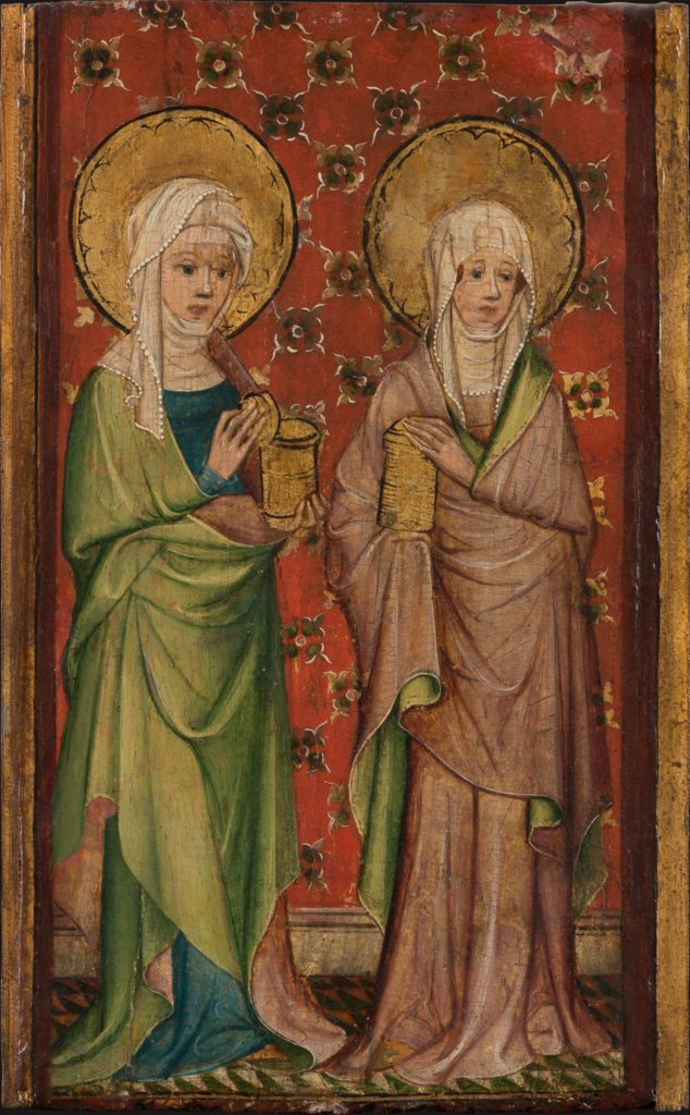 Two out of three Marys at the Sepulchre, Older Master of the Aachen Wardrobe Doors