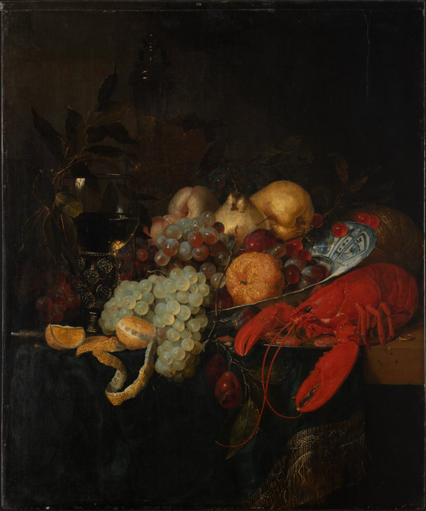 Still Life with Fruit and Lobster, Pieter de Ring