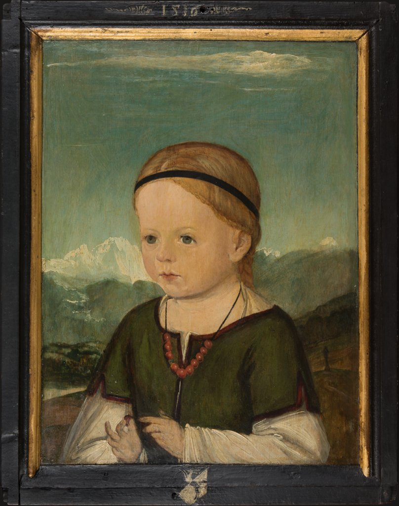 Portrait of Barbara Thenn (1513-1542), Master of the Portraits of the Thenn Children, Wolf Huber  Werkstatt ?