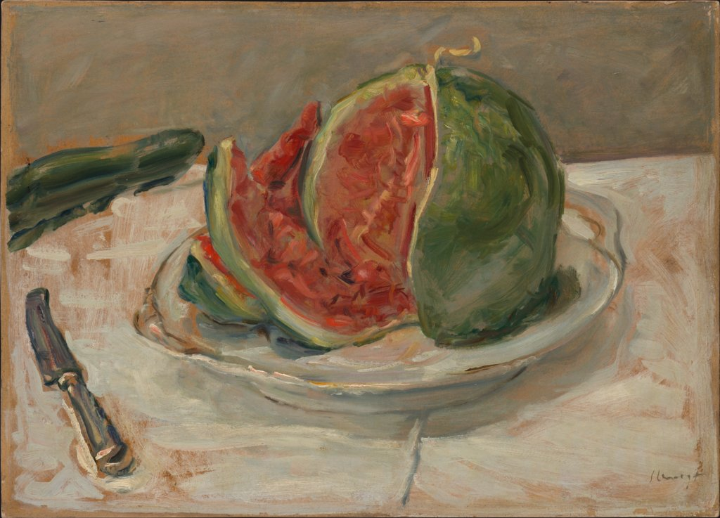 Still Life with Watermelon, Max Slevogt