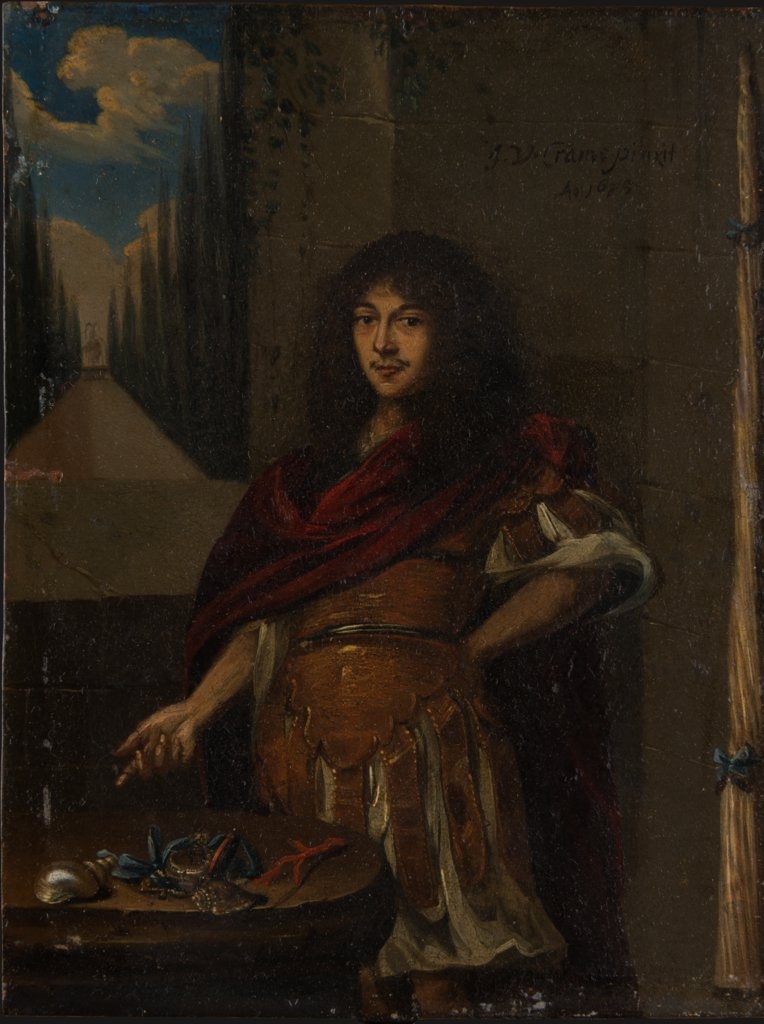 Portrait of a Man in Antique Style Armour, Johann Valentin Grambs