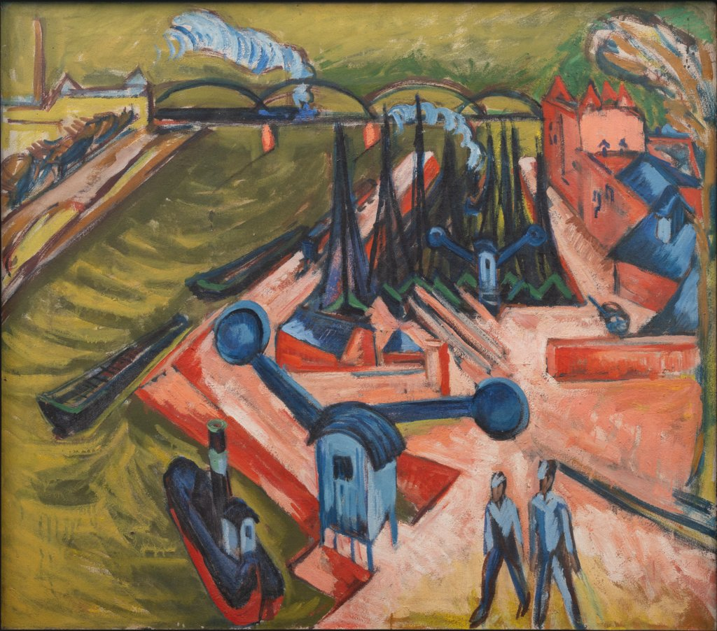 Western Harbour in Frankfurt am Main, Ernst Ludwig Kirchner