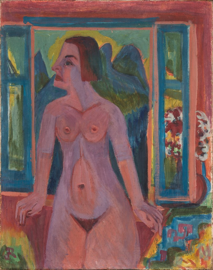 Nude Woman at window, Ernst Ludwig Kirchner