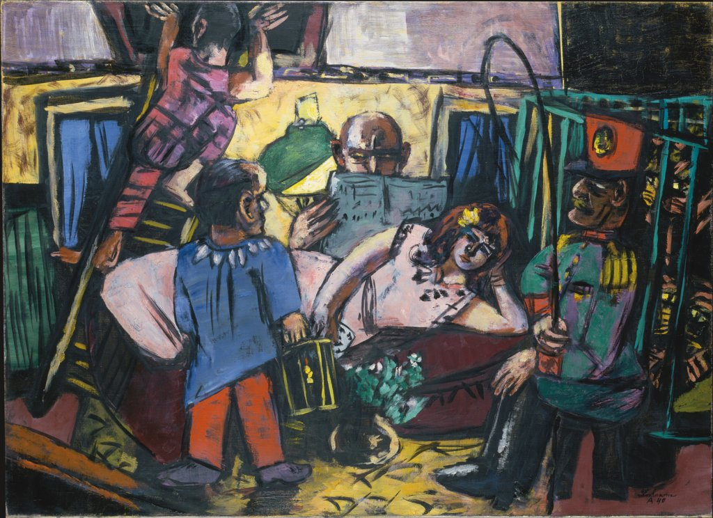 The Circus Carriage, Max Beckmann