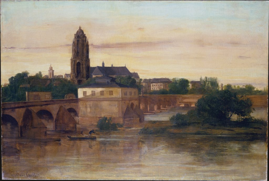 View of Frankfurt with the Old Bridge from Sachsenhausen, Gustave Courbet
