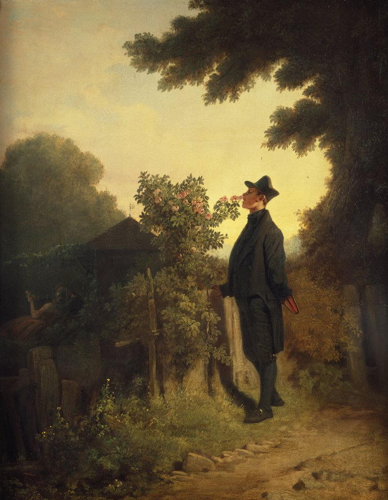 The Rose Lover, Carl Spitzweg