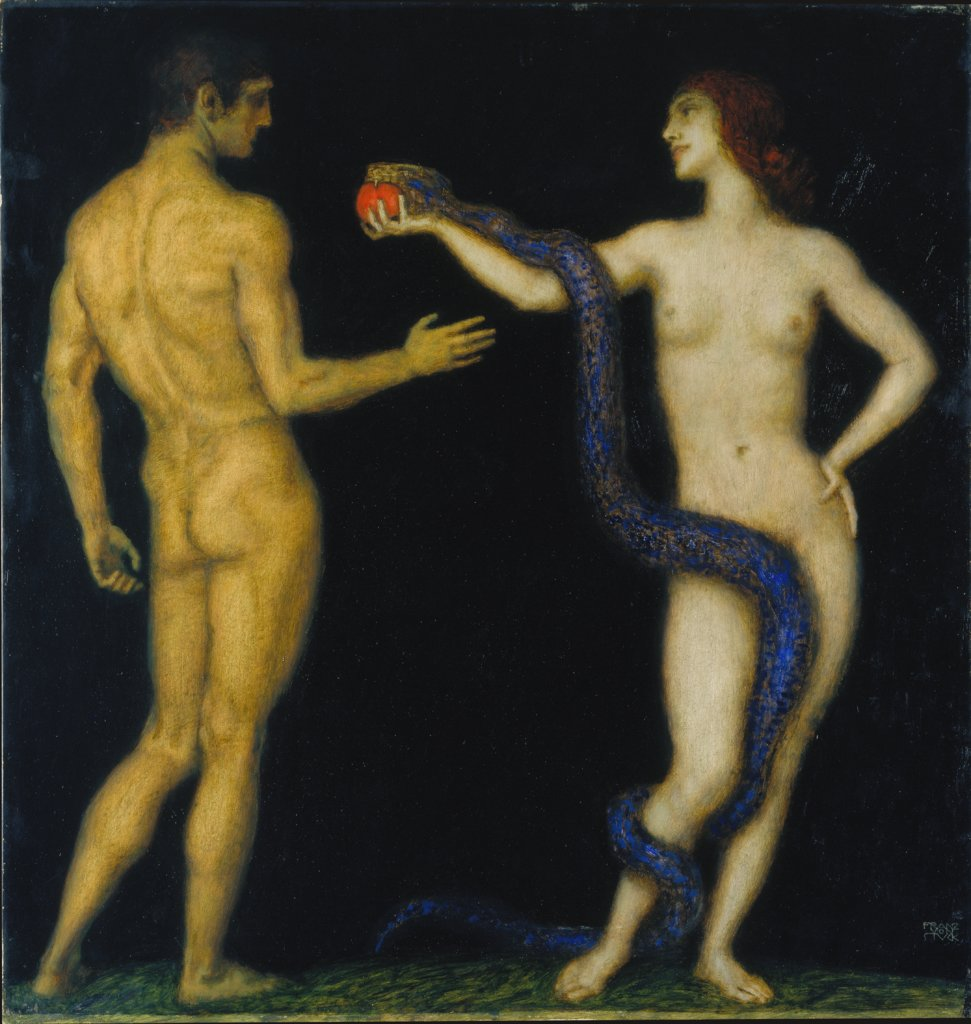 Adam and Eve, Franz von Stuck