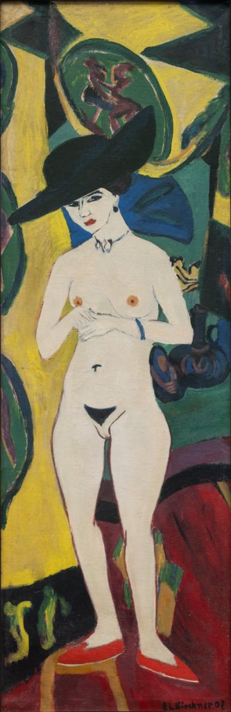 Nude with Hat, Ernst Ludwig Kirchner