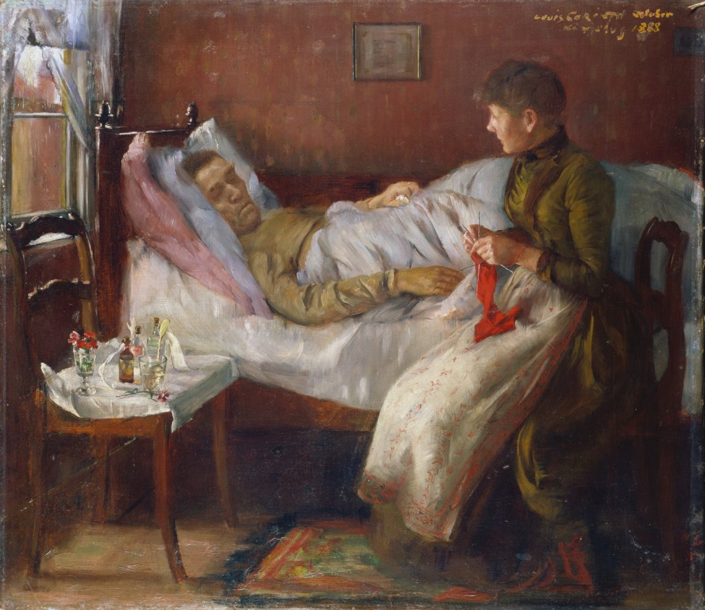 The Artist's Father in his Sickbed, Lovis Corinth