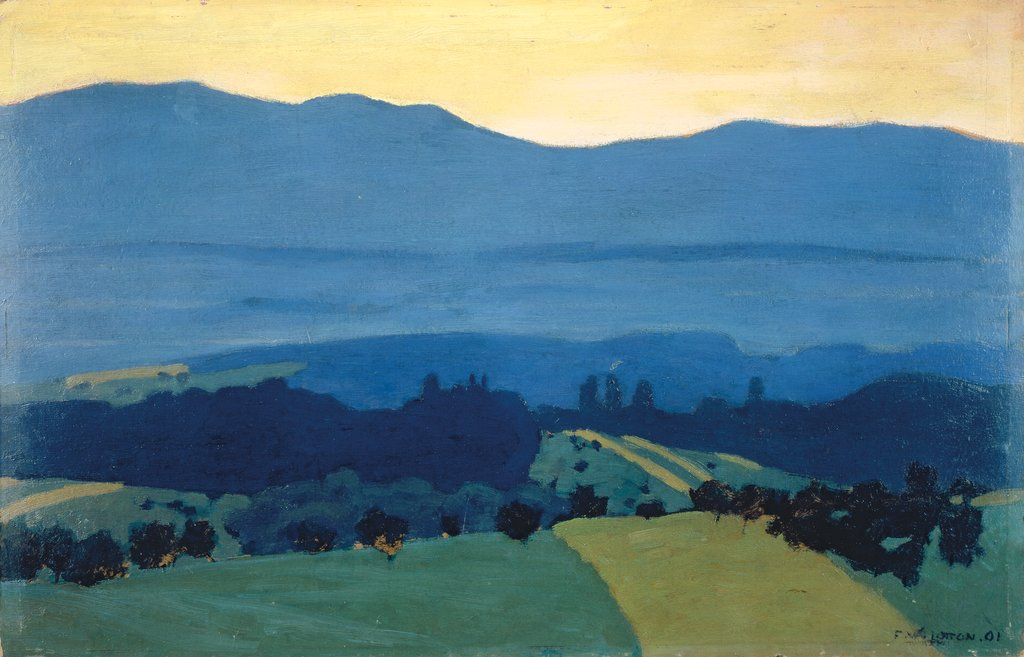 Landscape in the Jura Mountains near Romanel, Félix Vallotton