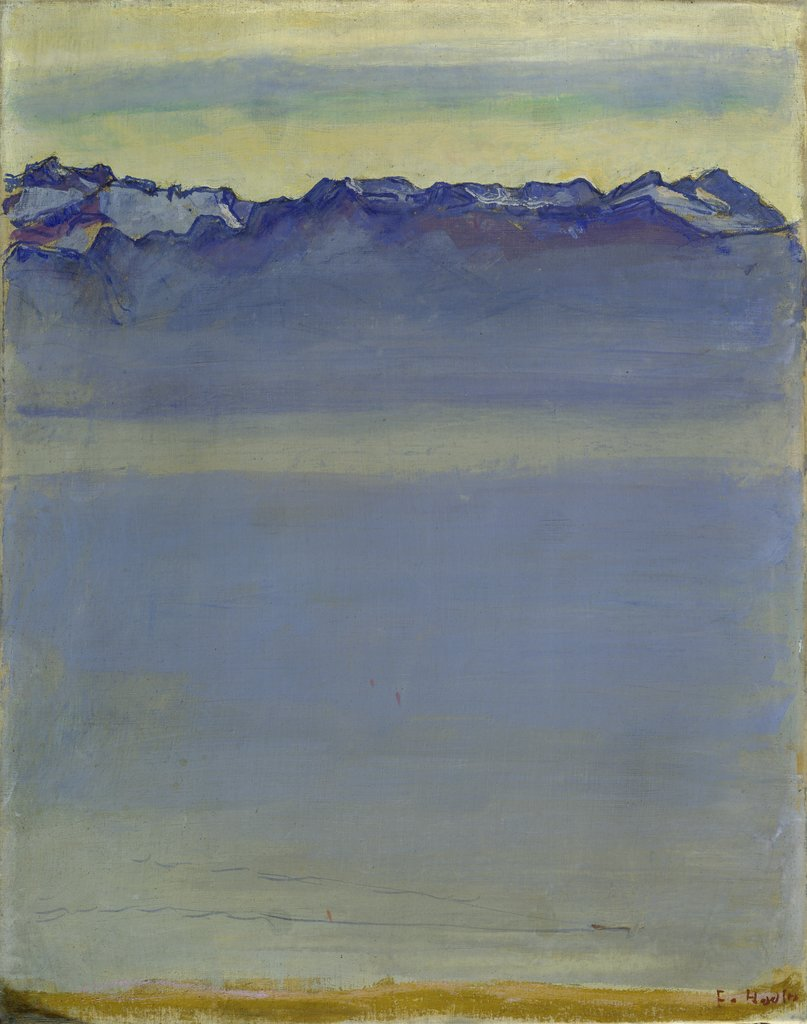 Lake Geneva with the Savoy Alps, Ferdinand Hodler