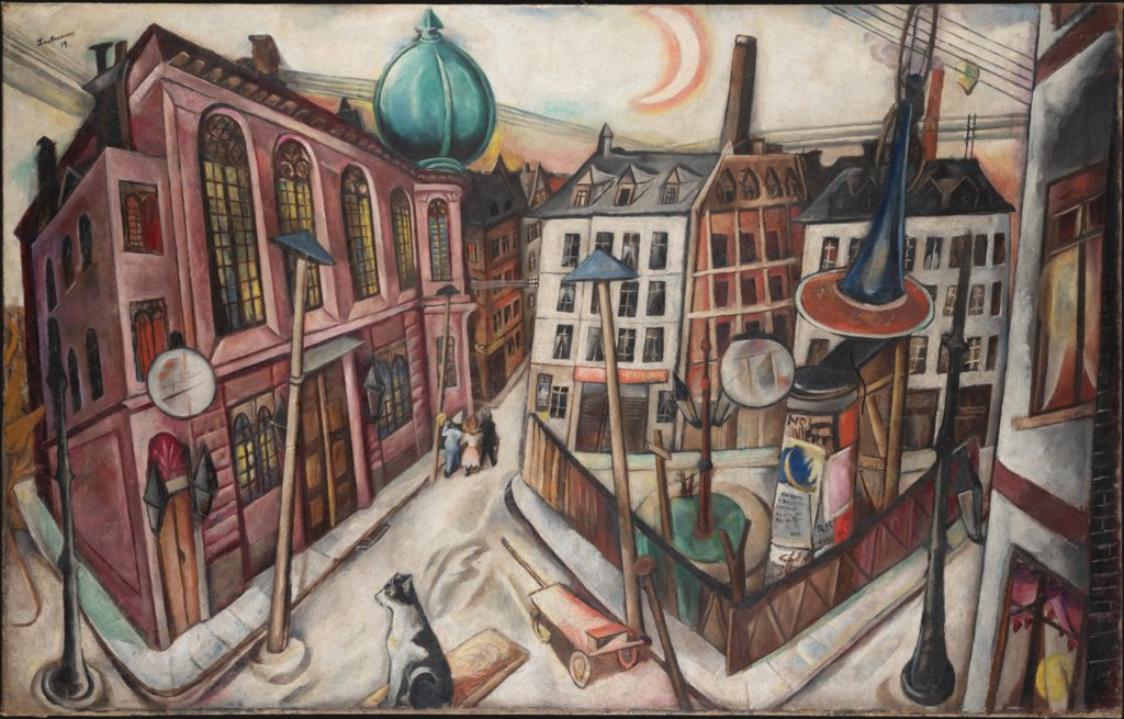 The Synagogue in Frankfurt am Main, Max Beckmann