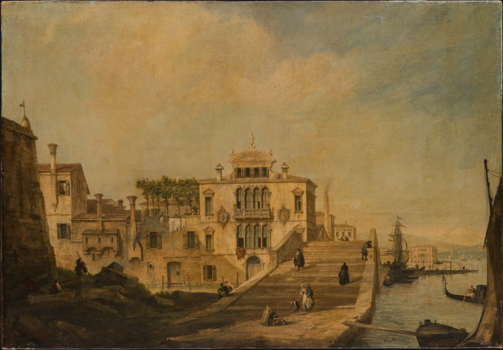 View of a Bridge in Venice, Canaletto (Giovanni Antonio Canal)  succession