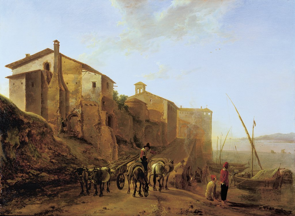 View of the Ripa Grande in Rome, Jan Both
