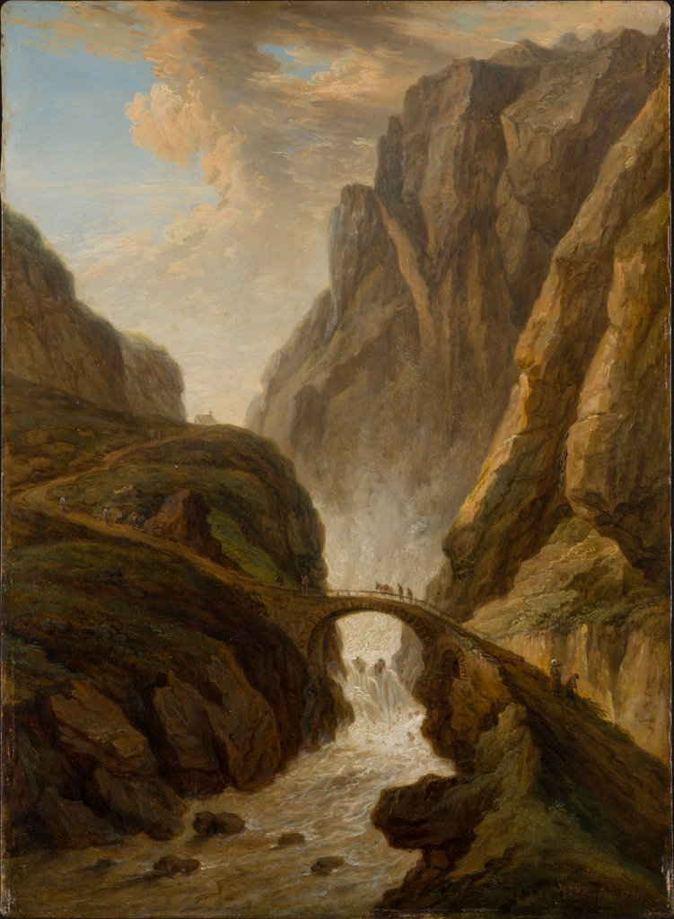 Devil's Bridge on the St Gotthard Road, Christian Georg Schütz the Elder