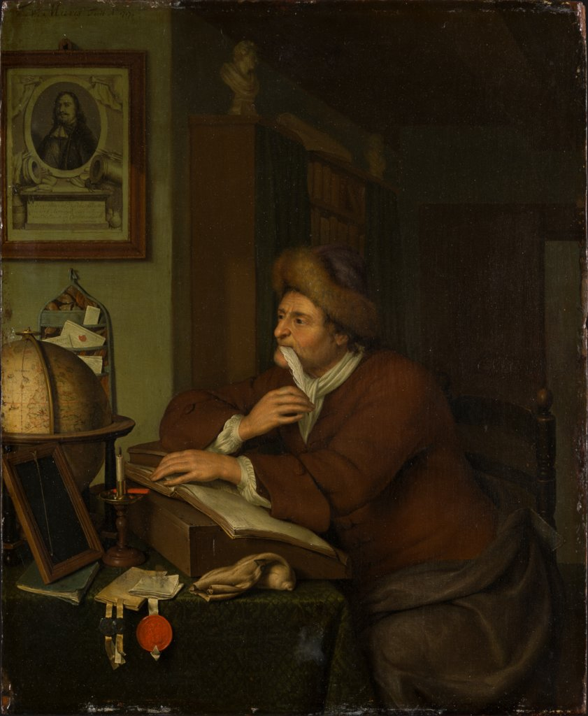A Scholar at his Desk, Frans van Mieris the Younger