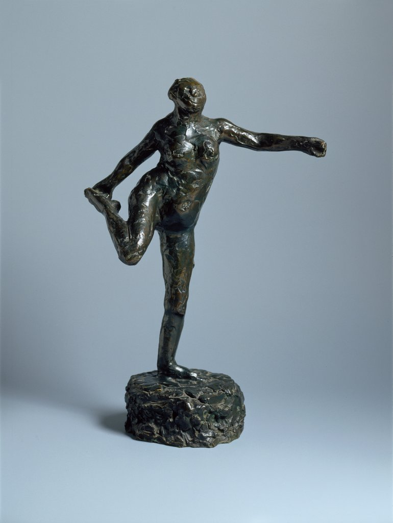 Dancer Holding Her Right Foot in Her Right Hand, Edgar Degas