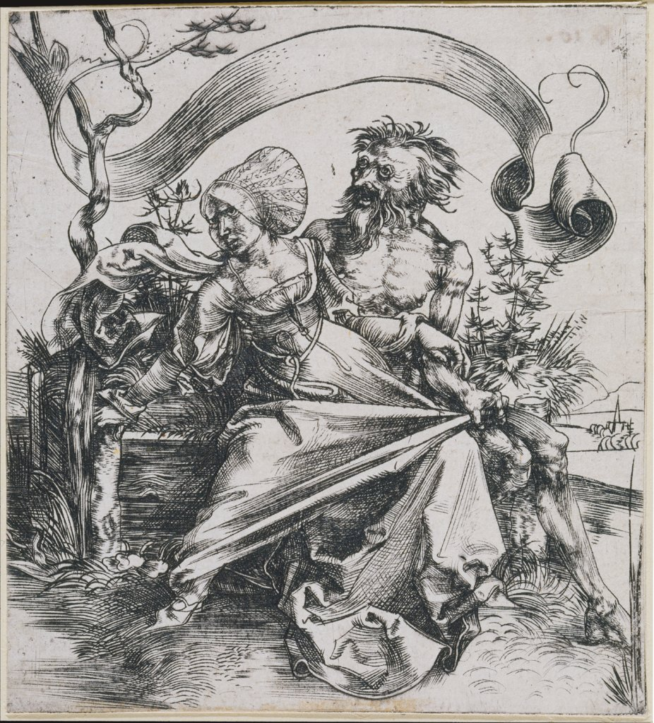 Young woman attacked by death (The Ravisher), Albrecht Dürer