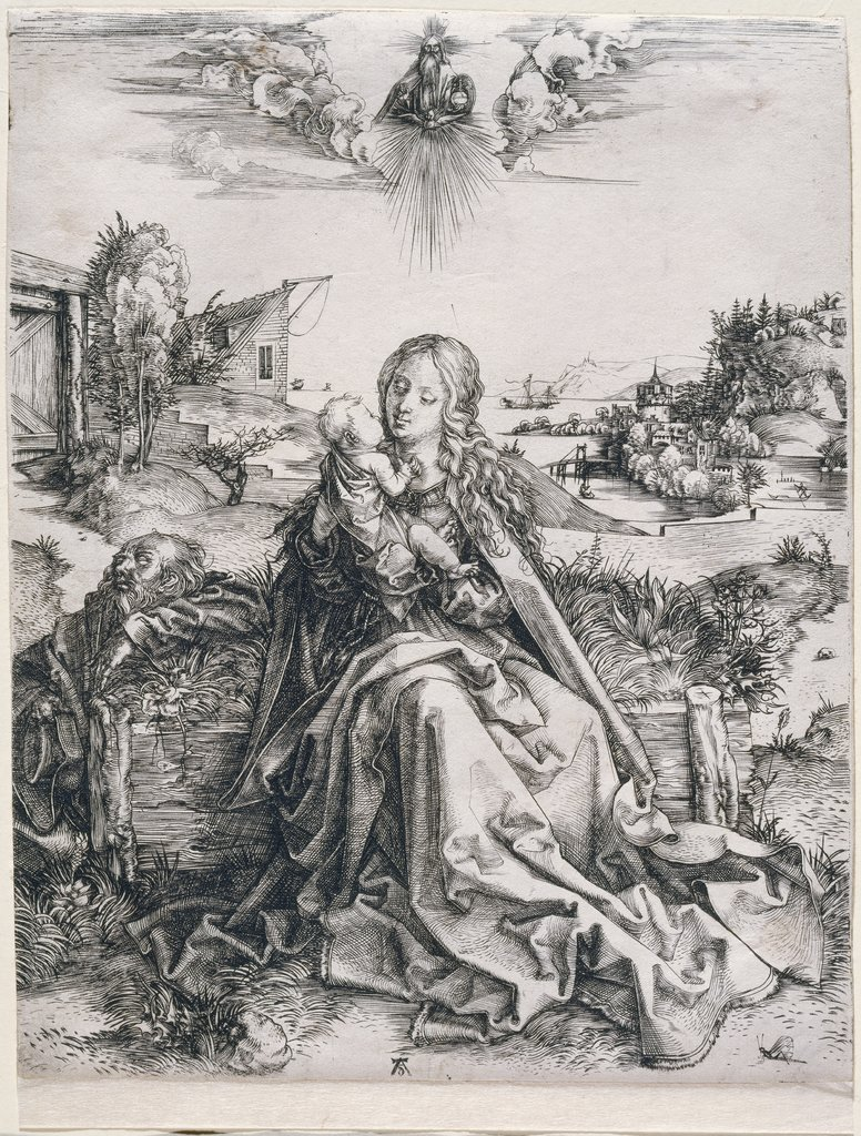 Holy Family with the Butterfly, Albrecht Dürer
