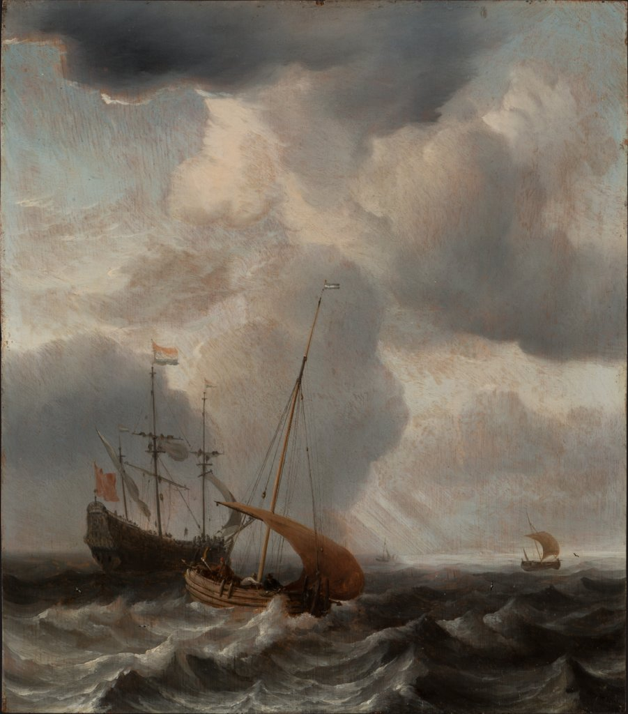 Stormy Sea with Ships, Willem van de Velde the Younger