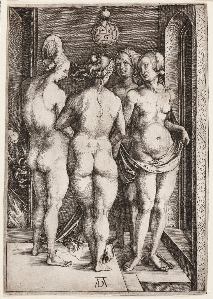 Four Naked Women (The Four Witches), Albrecht Dürer