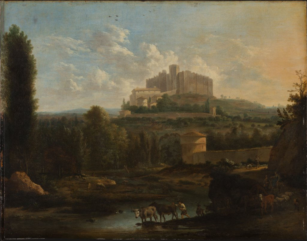 Landscape with the Castle of Francheville, Frederik de Moucheron, Adriaen van de Velde