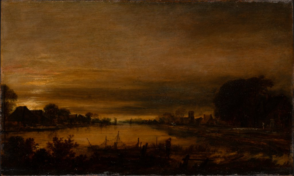 Landscape with Canal at Dusk, Aert van der Neer