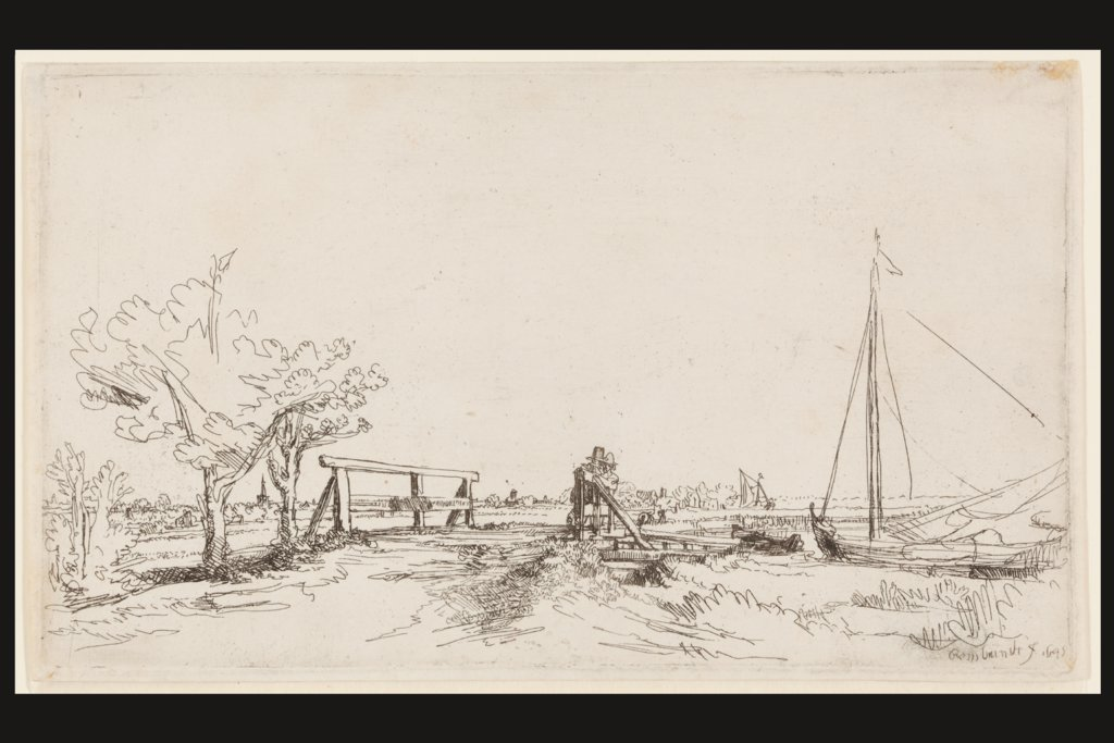Jan Six' bridge, Rembrandt Harmensz. van Rijn
