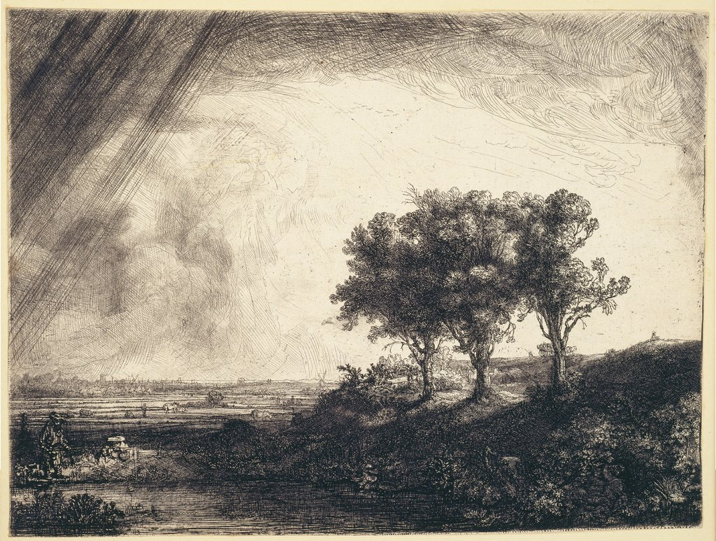The Three Trees, after Rembrandt Harmensz. van Rijn