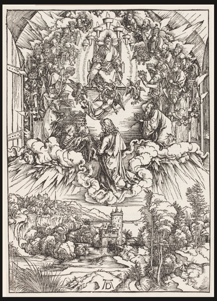 St. John before God and the Elders, Albrecht Dürer