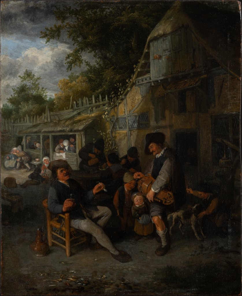 Country Inn with Hurdy-Gurdy Player, Cornelis Dusart