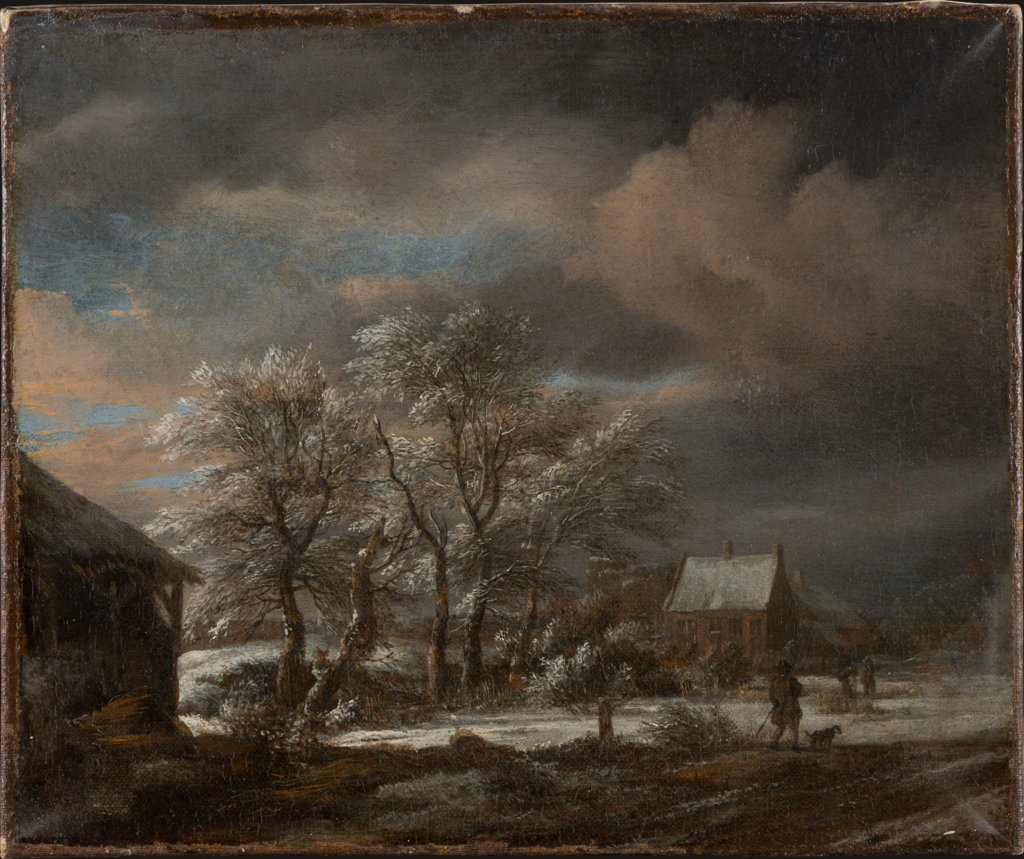 Winter Landscape with Snow-covered Trees, Jacob Isaacksz. van Ruisdael