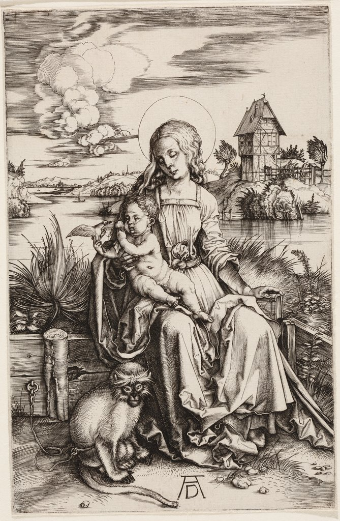 The Madonna with the Monkey, Albrecht Dürer