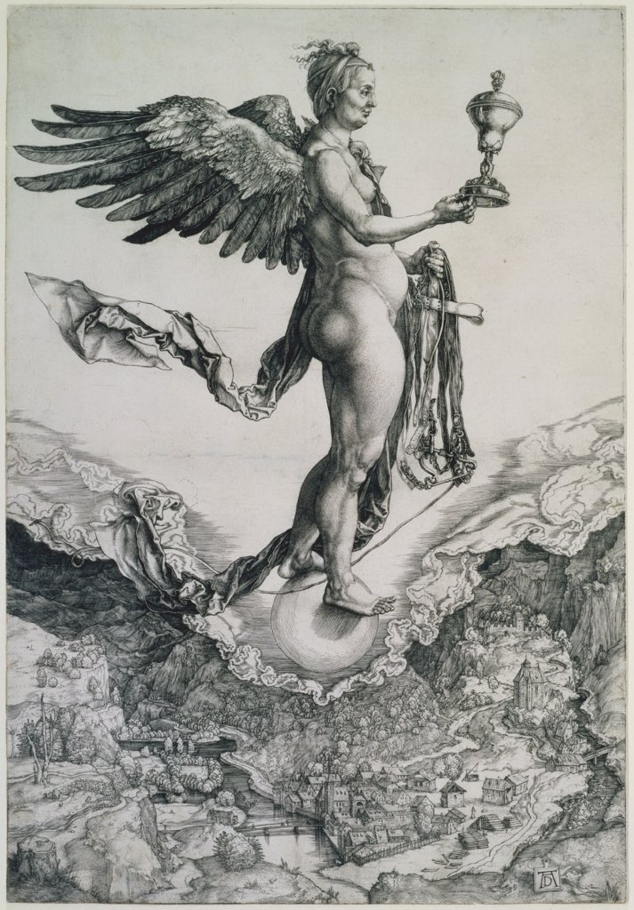 Nemesis (The Great Fortune), nach Albrecht Dürer