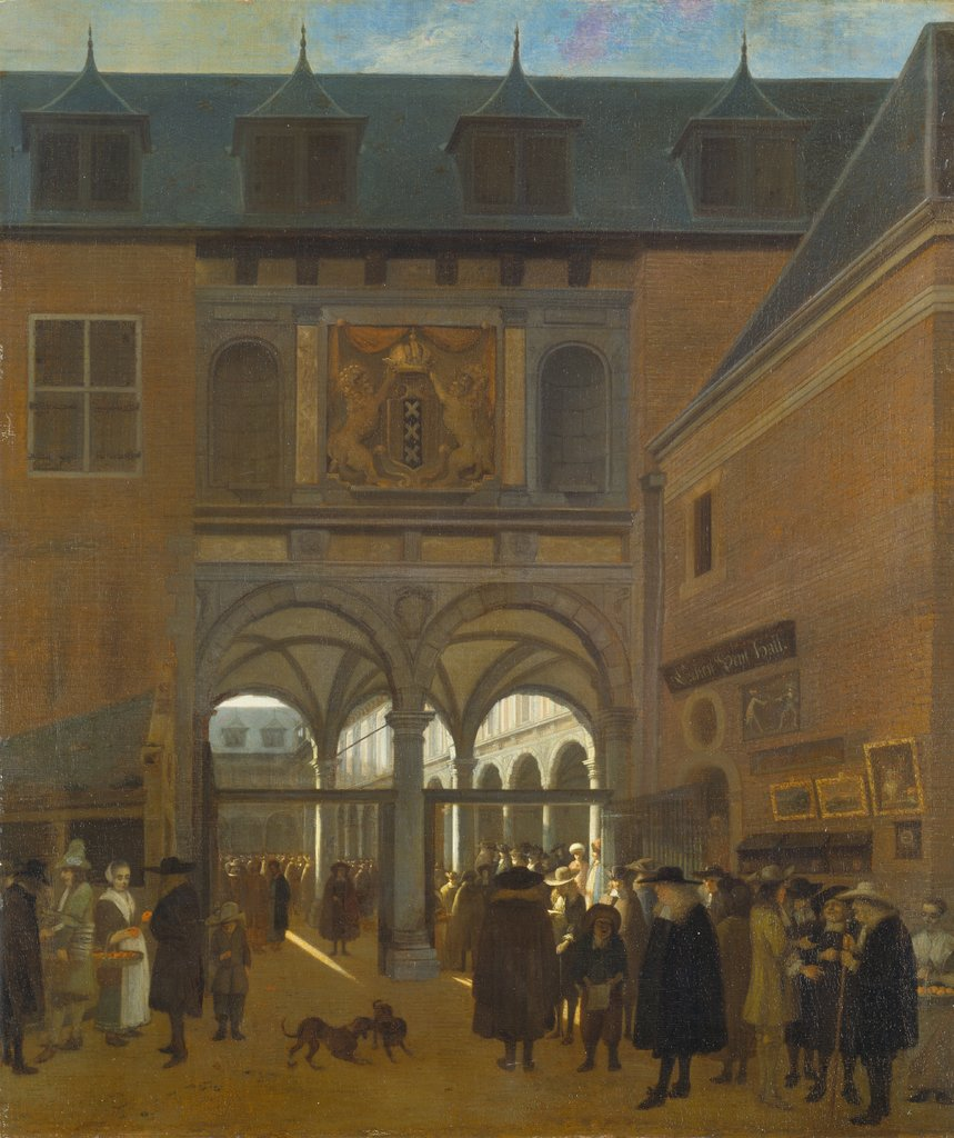 The Stock Exchange in Amsterdam, Job Andriaensz. Berckheyde