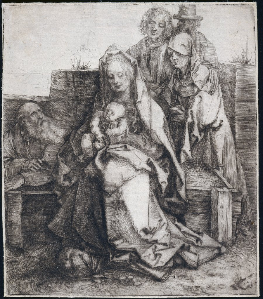 Holy Family with Saint John, The Magdalen, and Nicodemus, Albrecht Dürer