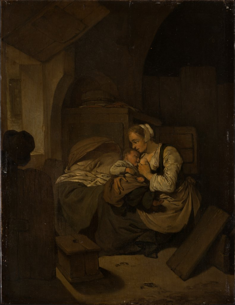 Interior with Nursing Mother, Cornelis Pietersz. Bega