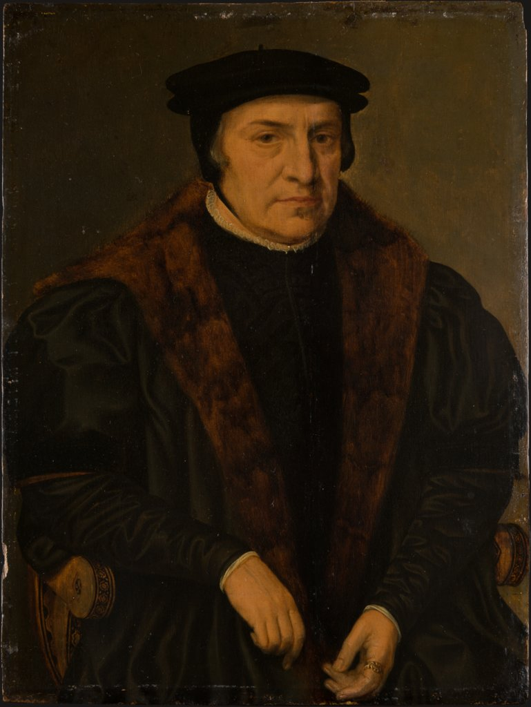 Portrait of an Elderly Man in an Armchair, Dutch Master around 1560