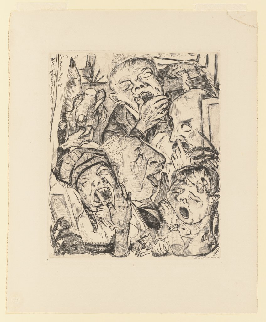 The Yawners, Max Beckmann