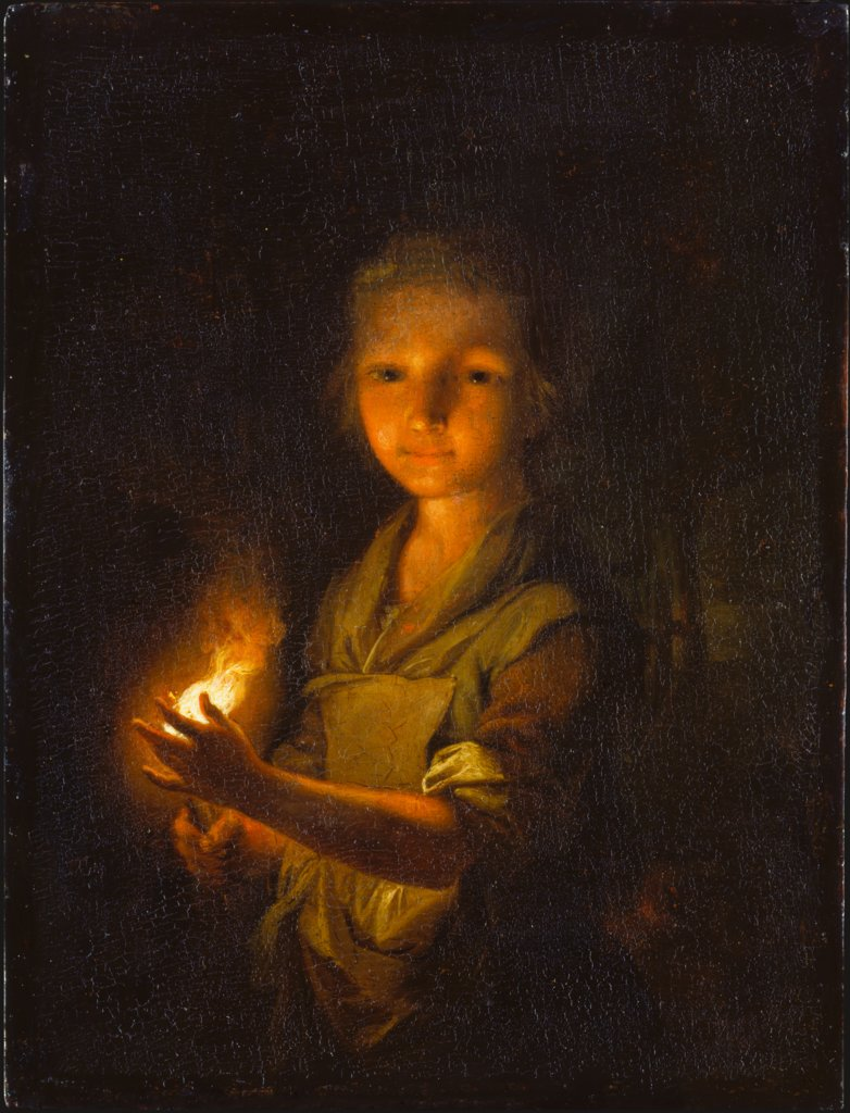 Girl with a Burning Torch, Johann Conrad Seekatz