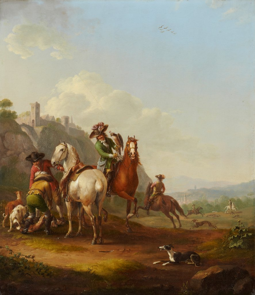 Hare-Hunt with Falconer, Johann Georg Pforr