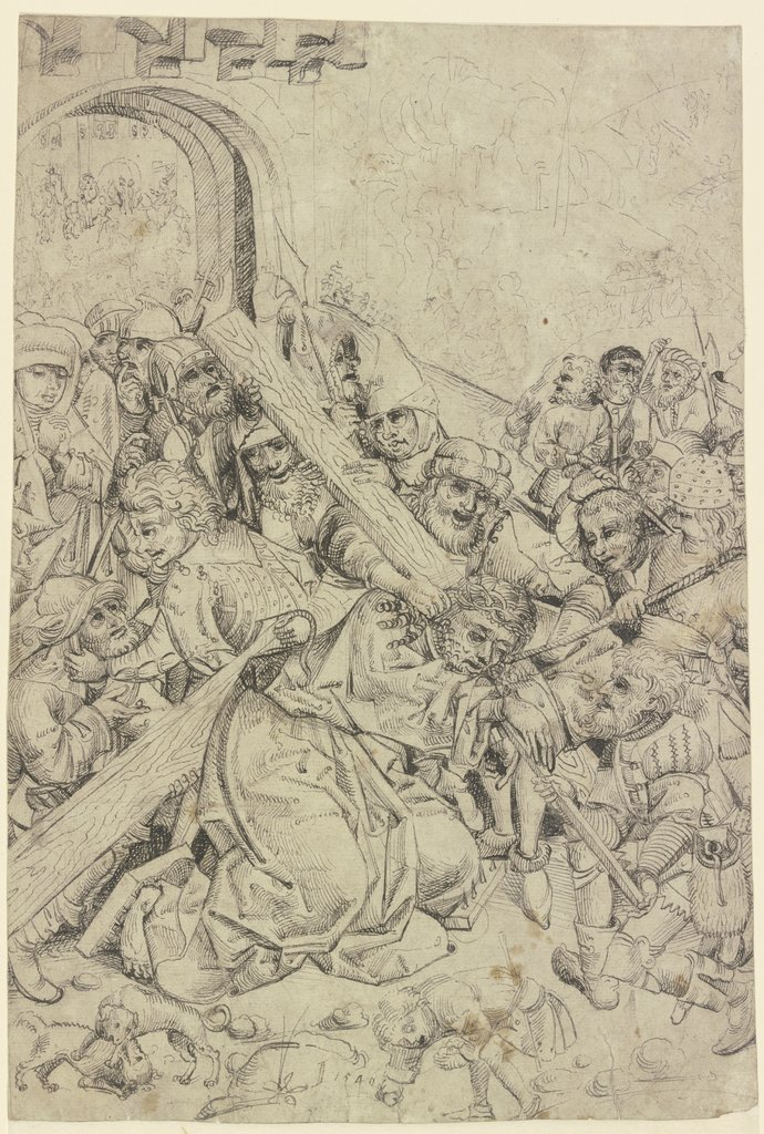 Bearing of the Cross, Master of the Hersbruck High Altar  workshop