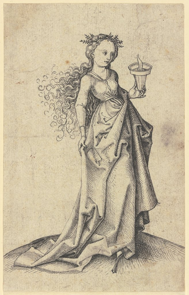 Wise maiden, Martin Schongauer  workshop, Martin Schongauer  circle, after Martin Schongauer