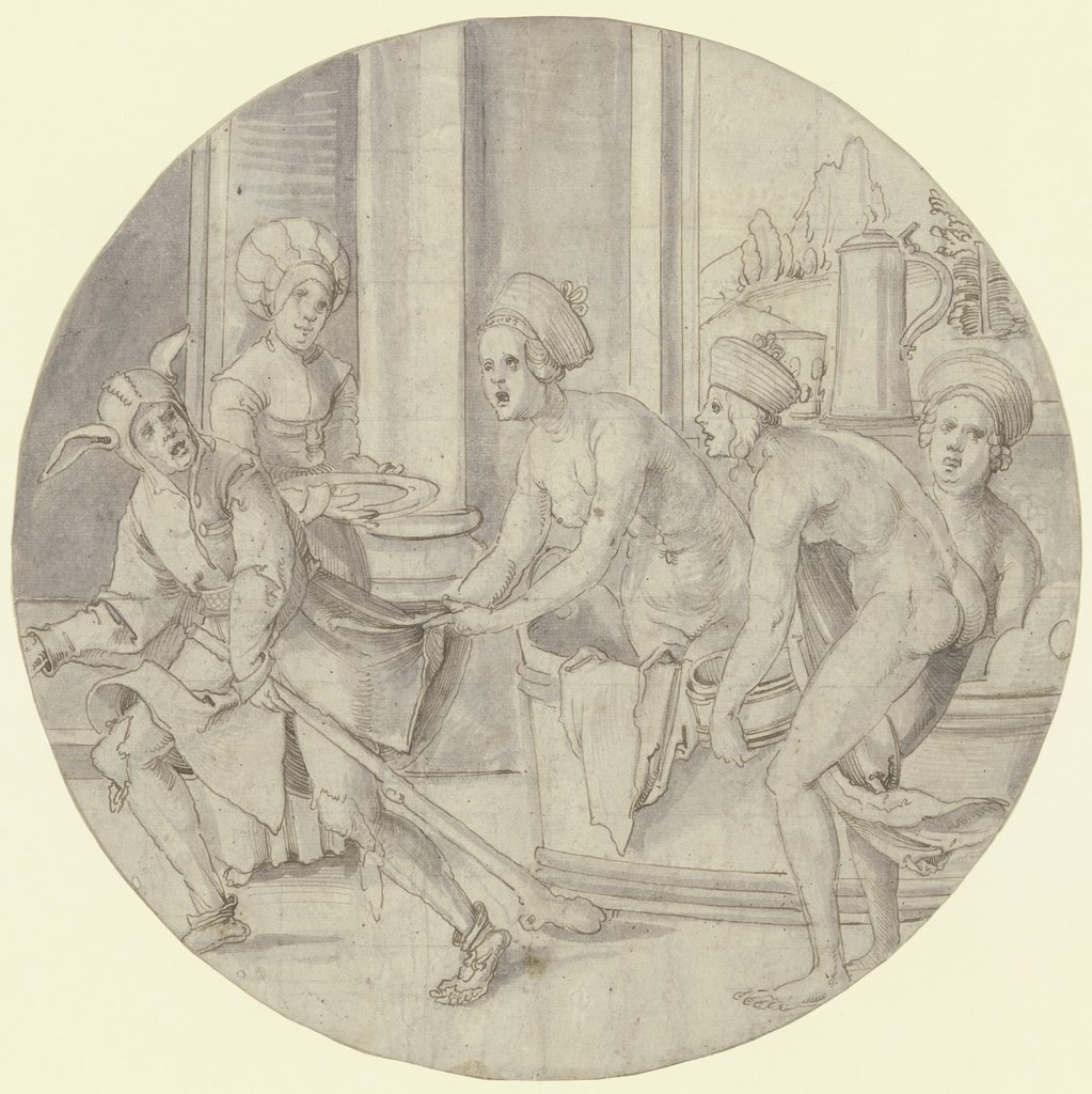 Jester in the ladies' pool, Hans von Kulmbach