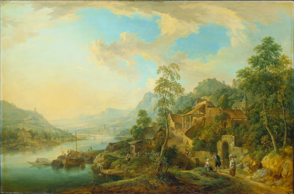 River Landscape in the Morning Light, Christian Georg Schütz the Elder
